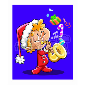 kid playing saxophone cartoon clipart. Royalty-free image # 393481