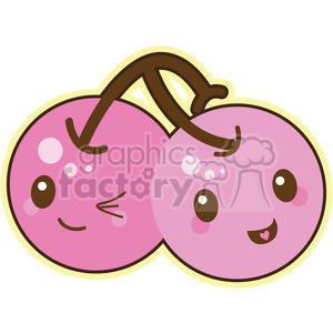 cherries cartoon character clipart. Royalty-free image # 393511