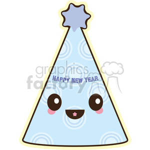 New Years Hat cartoon character clipart. Royalty-free image # 393551
