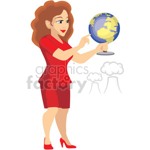 geography teacher clipart. Royalty-free image # 393632
