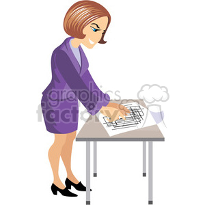 female designer clipart. Royalty-free image # 393652