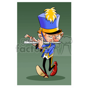 vector cartoon band member playing the flute clipart. Royalty-free image # 393742