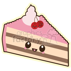 cartoon character characters funny cute cake slice snack dessert