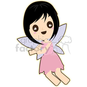 cartoon Pixie illustration clip art image clipart. Commercial use image # 393836