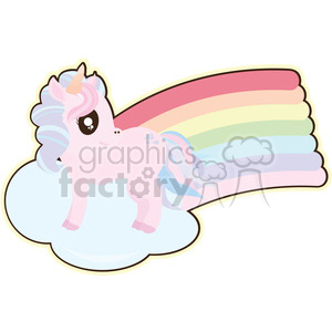 cartoon Unicorn illustration clipart. Commercial use image # 393846