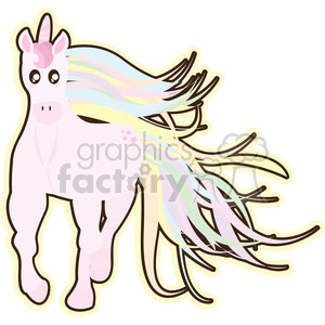 cartoon Unicorn illustration clip art image