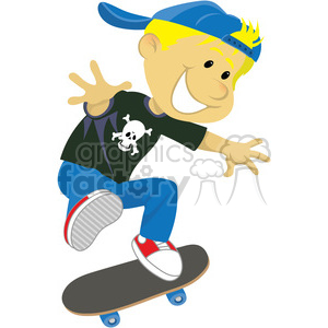 cartoon character person kid children kids people boy skateboarder skateboarding skater