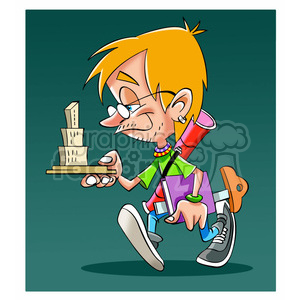 cartoon image of architect estudiante de arquitectura clipart. Royalty-free image # 393912