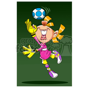 image of girl playing soccer portera de futbol clipart. Royalty-free image # 394062