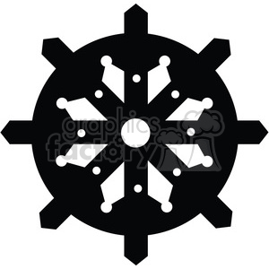 Gear 07 or Snowflake clipart. Royalty-free image # 394082