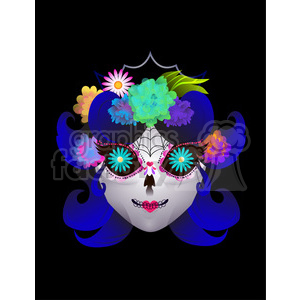 Day of the Dead 3 cartoon character illustration clipart. Commercial use image # 394112
