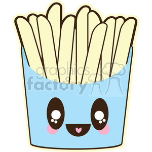 French Fries cartoon character illustration clipart. Royalty-free image # 394132