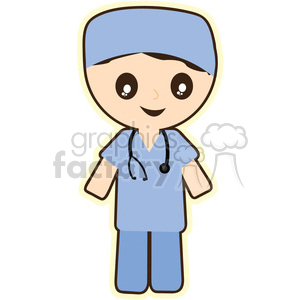 Doctor cartoon character illustration clipart. Royalty-free image # 394142