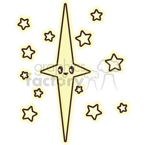 Star cartoon character illustration clipart. Royalty-free image # 394172