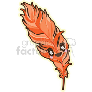 Feather cartoon character illustration clipart. Royalty-free image # 394192