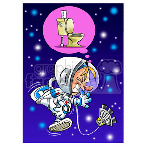 astronaut has to go to the bathroom clipart. Royalty-free image # 394257