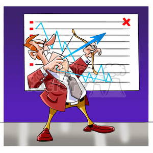 salesman shooting arrow for sales goal clipart. Commercial use image # 394267