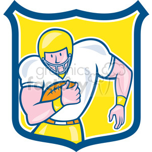american football fullback front OL SHIELD clipart. Royalty-free image # 394403