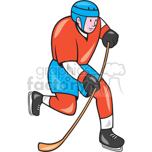 ice hockey player action OL 002 ISO clipart. Commercial use image # 394443