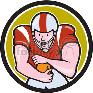 american football running back front OL CIRC clipart. Royalty-free image # 394463