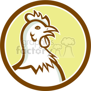 hen chicken head side CIRC clipart. Commercial use image # 394473