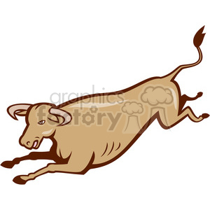 bull jumping side ISO clipart. Royalty-free image # 394503