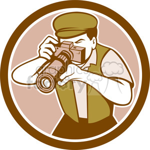 photographer camera OL CIRC clipart. Royalty-free image # 394523