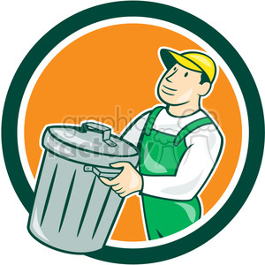 garbage collector rubbish clipart. Royalty-free image # 394533