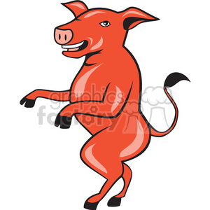 pig walking tall ISO clipart. Royalty-free image # 394563