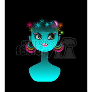 Neon Girl clipart. Commercial use image # 394603