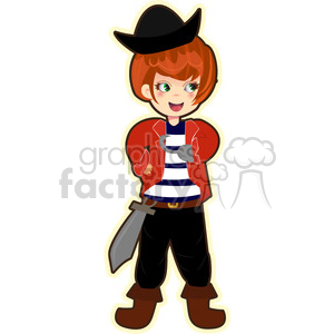 cute cartoon boy costume pirate male kid Halloween