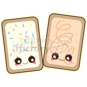 cute cartoon pop+tart poptart breakfast food snack toast