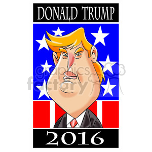 cartoon 2016 USA president campaign democracy politics political celebrity republican