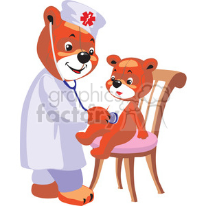 teddy bear doctor clipart. Commercial use image # 370176