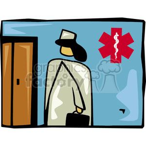 nurse in a hospital clipart. Commercial use image # 165998