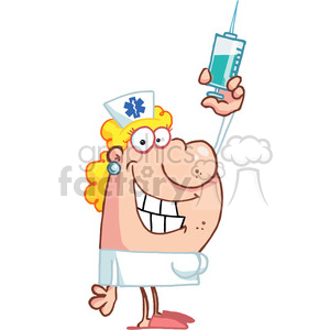 cartoon people characters comic funny vector nurse needle medical vaccine