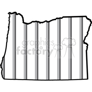 prison oregon jail bars tattoo design white clipart. Commercial use image # 394799