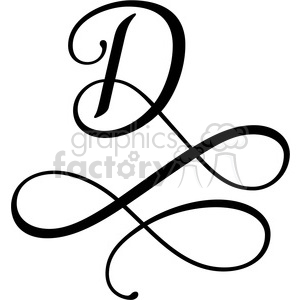 monogrammed d clipart. Commercial use image # 394829