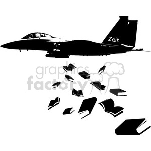 dropping education books instead of bombs clipart. Royalty-free image # 394839
