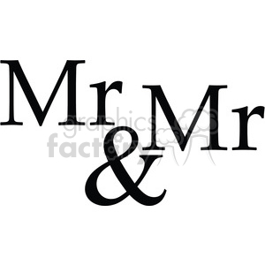 mr and mr vector word art clipart. Commercial use image # 394849