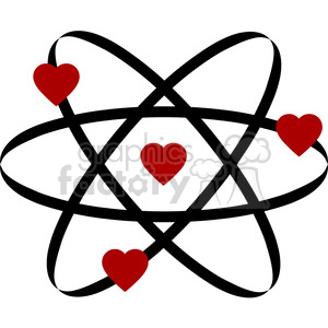 atom of love clipart. Commercial use image # 394855