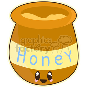 Honeypot cartoon character vector image clipart. Royalty-free image # 394886