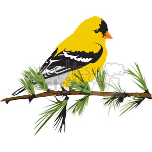 Yellow Bird clipart. Commercial use image # 394997