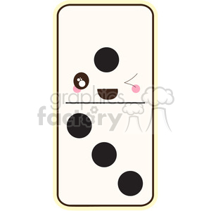 Domino cartoon character vector clip art image clipart. Commercial use image # 395032