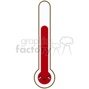 cartoon character thermometer temperature gauge meter summer hot