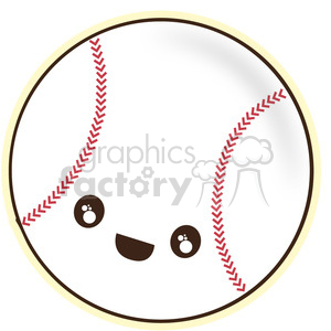 Baseball cartoon character vector clip art image
