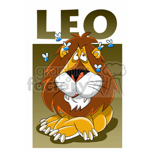 leo the lion horoscope clipart. Commercial use image # 395059