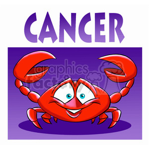 horoscope cancer crab clipart. Royalty-free image # 395089