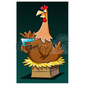 hen sitting on eggs clipart. Royalty-free image # 395189