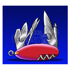 swiss army pocket knife clipart. Royalty-free image # 395209